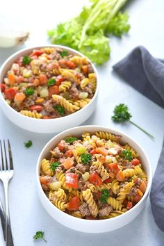 Healthy Hamburger Helper is a low calorie meal made gluten free and higher protein and fiber #healthy #hamburger #helper #lowcalorie #dinner #glutenfree #highprotein Healthy Low Calorie Meals, Low Calorie Recipes, Healthy Eating, Healthy Gluten Free Recipes, Healthy Dinner Recipes, Real Food Recipes, Healthy Hamburger, Hamburger Helper, Light Soups