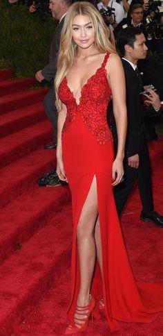 Gigi Hadid. 2015 MET GALA RED CARPET: