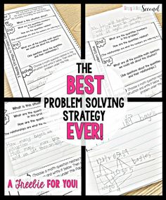 The BEST Problem Solving Strategy EVER!