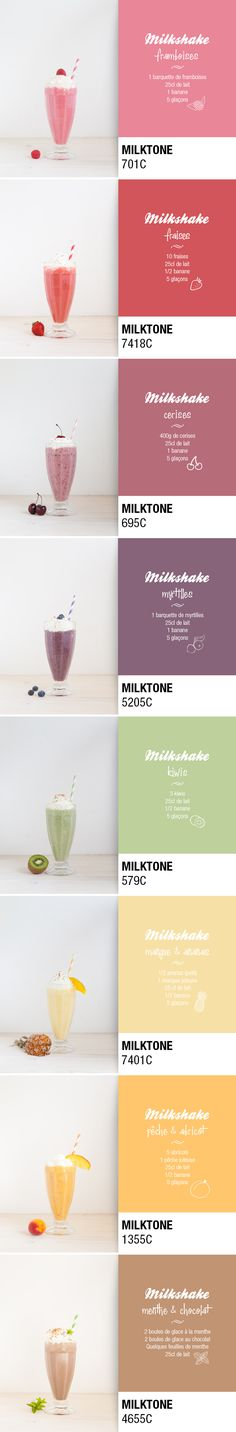 Palette de Milkshakes / Pantone Milshakes ;) . Je remplace le lait par un lait…
