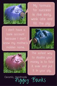 Ceramic handmade piggy bank-p