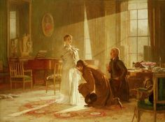 Victoria Regina: Queen Victoria receiving the news of her Accession | Royal Collection Trust --- painting by Henry Tanworth Wells (1828-1903)