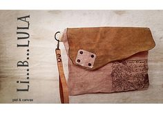 Clutch (canvas & piel) www.liblula.com