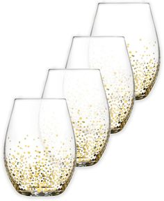 Fitz and Floyd® Luster Stemless Wine Glasses in Gold (Set of 4) - $49.99