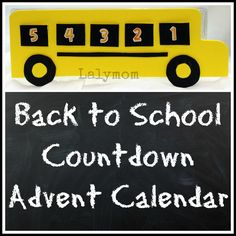 LalyMom: Back to School Countdown Calendar Craft using craft foam and an egg carton. Back To School Crafts, Back To School Hacks, Back To School Essentials, School Fun, School Ideas, School Starts, School Tips, Diy Calendar, Countdown Calendar