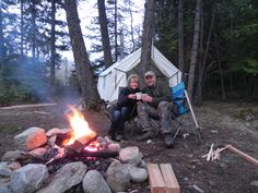 Camping? Yep. It can be VERY romantic...with the right person. Secluded...wilderness...just you guys...and the bears... He'll need to snuggle you really tight to protect you from the cold...and the bears! BTW, the wine is chilling in the cold, mountain stream next to our camp site!