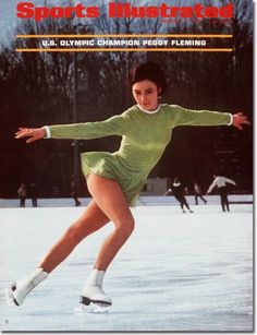 Peggy Fleming - American figure skater. She is the 1968 Olympic Champion in Ladies' singles and a three-time World Champion (1966–1968). Fleming has been a television commentator on figure skating for over 20 years, including several Winter Olympic Games.