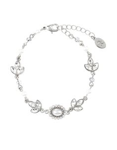 Deco Pearl and Crystal Clasp Bracelet