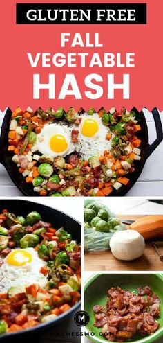 Sweet potatoes and turnips browned with bacon in this delicious brussels sprout hash. Served with over easy eggs always and forever. Healthy Gluten Free Recipes, Veggie Recipes, Veggie Food, Real Food Recipes, Vegetarian Recipes, Easy Dinner Recipes, Fall Recipes, Easy Meals, Winter Root Vegetables