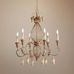 "Quorum La Maison 28"" Wide French Umber Chandelier - #2Y138 