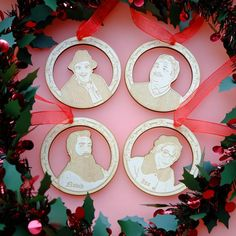 Still Game Christmas Baubles / Jack and Victor / Scottish Gift / Christmas Decoration / Glasgow Christmas Bauble / Craiglang Christmas Ribbon, Christmas Games, Christmas Baubles, Christmas Tree, Jack And Victor, Still Game, Wooden Christmas Decorations, Laser Cut Jewelry, Scottish Gifts