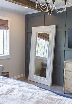 Master Makeover: DIY Floor Mirror—from Ikea to Vintage | Jenna Sue Design Blog