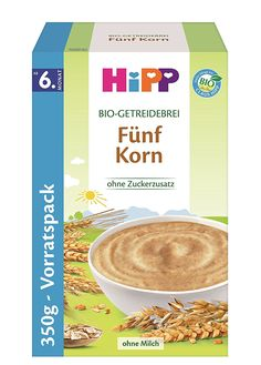 Hipp Bio-Getreidebreie Fünf Korn, 4er Pack (4 x 350g): Amazon.de: Lebensmittel & Getränke Korn, Perfect Curls, Baby Food Recipes, Oatmeal, Grains, Yummy Food, Organic, Breakfast