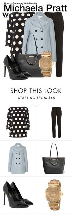 """How to Get Away With Murder"" by wearwhatyouwatch ❤ liked on Polyvore featuring Dorothy Perkins, Roland Mouret, Tory Burch, MICHAEL Michael Kors, Yves Saint Laurent, Versace, television and wearwhatyouwatch"