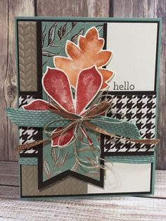 Handmade Fall Cards, Beautiful Handmade Cards, Greeting Cards Handmade, Thanksgiving Cards, Holiday Cards, Leaf Cards, Fabric Cards, Autumn Cards, Cards For Friends