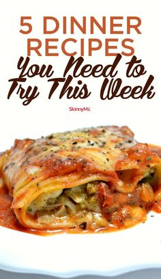 5 Dinner Recipes You Need to Try This Week!   Easy Dinner Recipes   Healthy Dinner Recipes