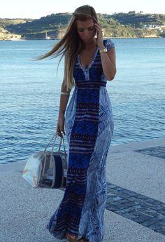 My Favourite Long Summer Dress!   , Zara in Dresses, Bimba & Lola in Bags, Bimba & Lola in Jewelry