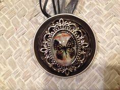 Capsule de Nespresso décorée sur le thème Papillons : Collier par crea-caps