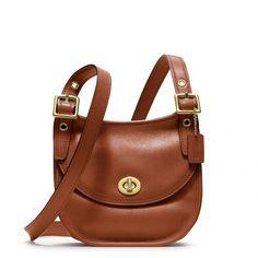 Coach Legacy Leather Mini Saddle Bag