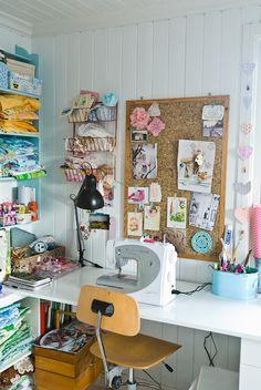 Heart Handmade UK: Craft Room Inspiration   Delightful Little Sewing Room from Brothers Borg   Fjledborg