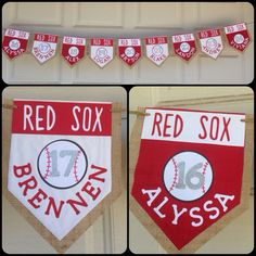 Red Sox little league burlap banner  on Etsy, $10.00