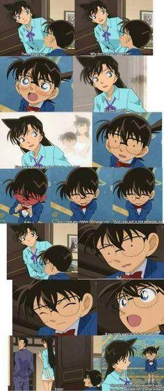 Kogoro, Ran and Conan