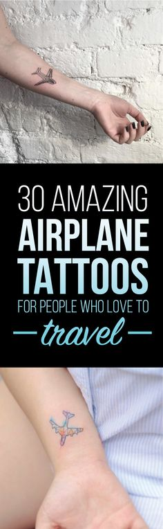 30 Amazing Airplane Tattoo Designs | TattooBlend
