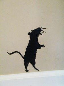 Halloween Rat Silhouette