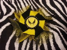 Bottlecap Flower Wolverine Hair Bow ~ Free Shipping