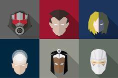 SuperHeroes Masks Flat (Set 13). Gradients Photoshop. $6.00