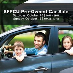 #consumerlending #carloans #creditunionloans Mark your calendars (or set reminders on your phones!) for October 15th and 16th, the weekend of our Fall Pre-Owned Car Sale.  We'll be teaming up with SafeAmerica Credit Union again in Pleasanton. #CUFormsAdvantage #oaktreebiz #askrich #OakTreeAdvantage  creditunion #creditunionforms #CreditUnionFormsVendor #OakTreeBusinessSystemsInc #OakTree #OakTreeBiz #forms #lendingdocuments