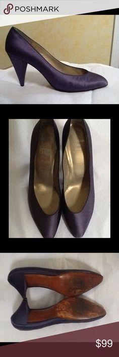 Christian DIOR Women's Blue Satin Pump Shoes Sz 39 Christian DIOR Women's Blue Satin Pump High Heel Shoes Sz 39 Christian Dior Shoes Heels