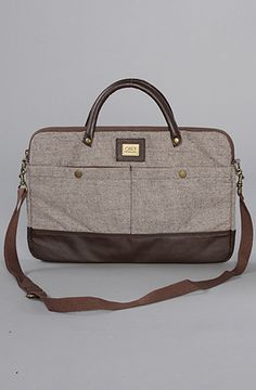 1ca1f61850 Obey The Uptown Notebook Briefcase in Brown Twill Streetwear Fashion