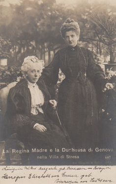Queen Margherita of Italy with her mother.