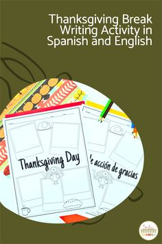 Are you looking for Thanksgiving activities for your Spanish classes? Your Spanish classroom will love these writing activities for before or after break! Perfect for middle school and high school students to share about their plans! Use them as stations or as separate activities to celebrate Día de Acción de Gracias in your Spanish class! #spanishclass #secondaryspanish Spanish Activities, Writing Activities, English Day, Middle School Spanish, Spanish Lesson Plans, Spanish 1, Spanish Classroom, Thanksgiving Activities, High School Students