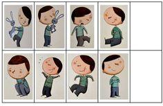 Projet avec MS sur les sentiments, à partir du livre: L'imagier des sentiments de Félix
