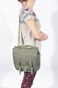 Women Messenger Bag, Canvas Military Bags, Green Cross Body Bag, Khaki  Hipster Shoulder c7de74345f