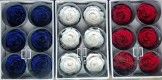 Memorial day gift, Preserved roses by Verdissimo in red white and blue Ecuadorian Roses, Best Roses, Wholesale Roses, Blue And Purple Flowers, Lavender Wreath, Forever Rose, Types Of Roses, Preserved Roses, Rose Stem