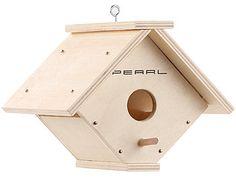 PEARL Nistkasten-Bausatz aus Echtholz mit 6-teiligem Farben-Set PEARL Vogel-Nistkasten im Bausatz