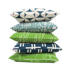 Cushions by Skinny laMinx in tropical blues and greens. Visit the Skinny laMinx online shop and treat yourself in our Twofor Sale running from August. Design Textile, Textile Patterns, Print Patterns, Bed Pillows, Cushions, Textiles, Outdoor Seating Areas, Soft Furnishings, Cushion Covers