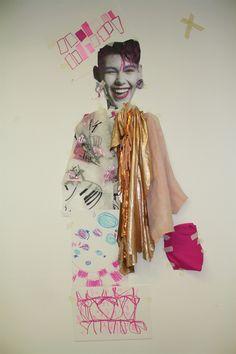 Hfgfgfff Fashion Illustration Collage, Fashion Collage, Cute Illustration, Fashion Art, Kids Fashion, Fashion Design, Textiles Sketchbook, Fashion Sketchbook, Drawing Templates