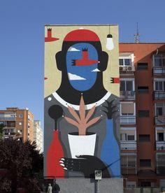 Agostino Iacurci – New Mural in Madrid for Mulafest