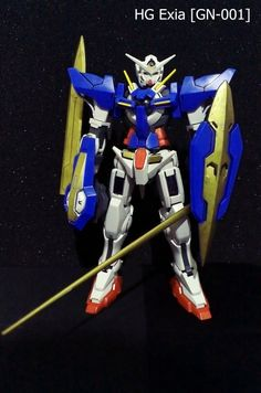 it's very amazing, the stronger gundam, in gundam OO series.... yeee #exia #gundam