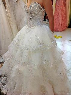 White/Ivory Lace Wedding Dress Bridal Gown Custom Size4 6 8 10 12 14 16 18 20+++