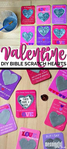 These Valentine's Day Bible Verse Scratch-Off Hearts are such a fun way to bring the Word of God into the hearts of kids. Family Traditions, Holiday Traditions, Valentine Crafts For Kids, Valentines Day, Scratch Off Tickets, Catholic Kids, School Fundraisers, Christian School, How To Make Diy