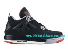 separation shoes ca5f3 47398 Air Jordan 4 Retro - Chaussures Basket Jordan Pas Cher Pour Femme Noir  Rouge