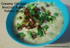 Recipe Collection: Creamy Chicken Broccoli Baked Potato Soup | Modern Alternative Mama