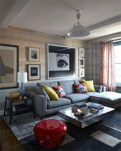 Uma sala de estar muito convidativa.