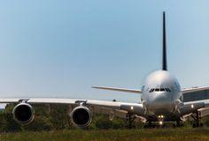 Lufthansa Airbus A380-841 in Hamburg.