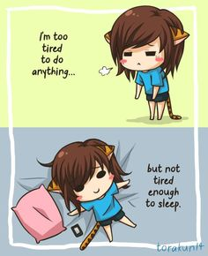Torakun Comics :: Too Tired | Tapastic - image 1